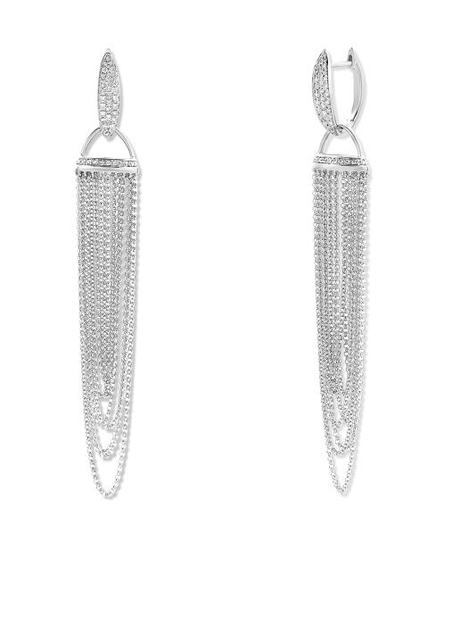 Diamond Point La dolce vita earrings in 14 karat white gold