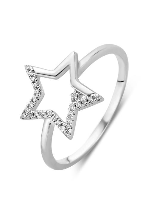 Diamond Point Witgouden ring 0.06 ct diamant Dreamer