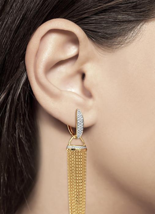 Diamond Point La dolce vita earrings in 14 karat yellow gold