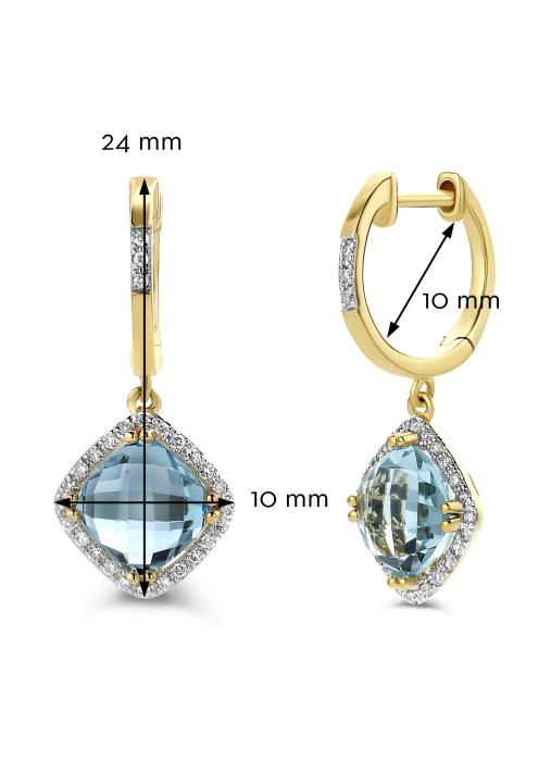 Diamond Point Geelgouden oorsieraden 4.33 ct topaas Fiësta