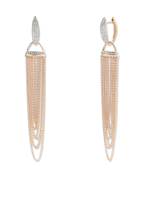 Diamond Point La dolce vita earrings in 14 karat rose gold