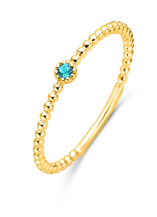Diamond Point Geelgouden ring, 0.04 ct london topaas, Joy