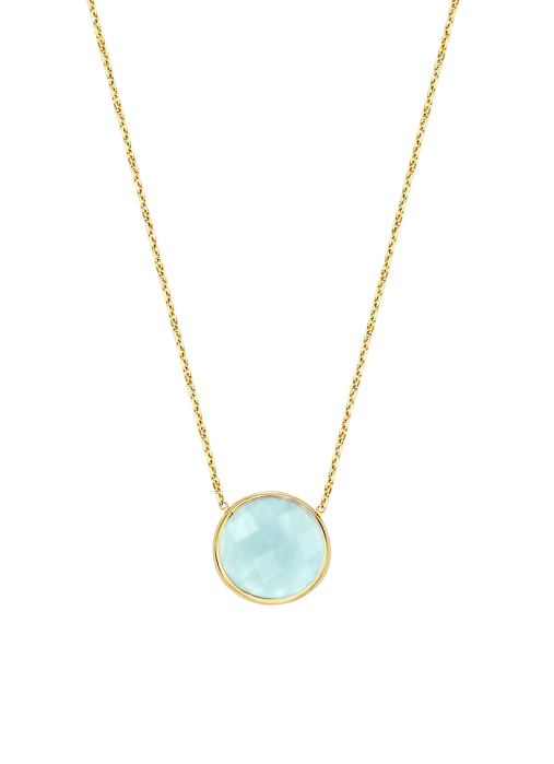 Diamond Point Earth necklace in 14 karat yellow gold