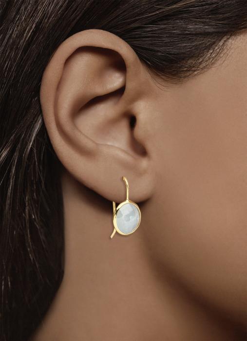 Diamond Point Earth earrings in 14 karat yellow gold