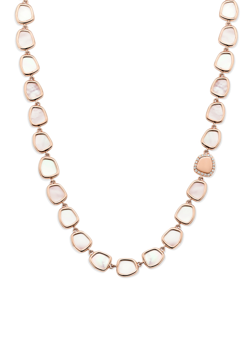 Diamond Point Melody necklace in 14 karat rose gold