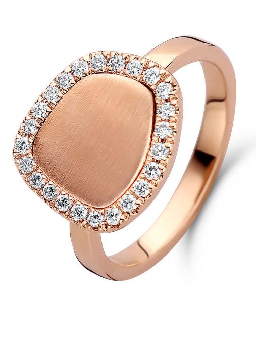 Diamond Point Roségouden ring, 0.27 ct diamant, Melody