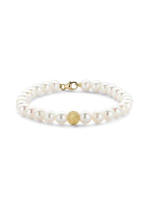 Diamond Point Rivièra bracelet in 18 karat yellow gold