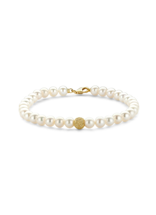 Diamond Point Rivièra bracelet in 18 karat yellow gold