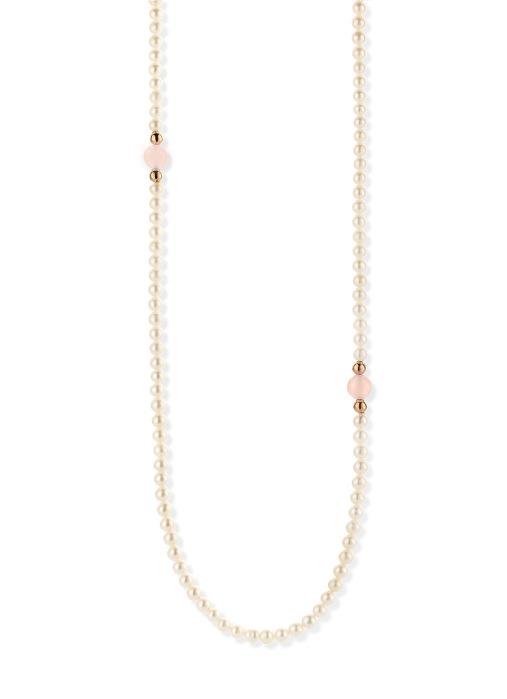 Diamond Point Roségouden collier, 18.00 ct roze kwarts, Rivièra