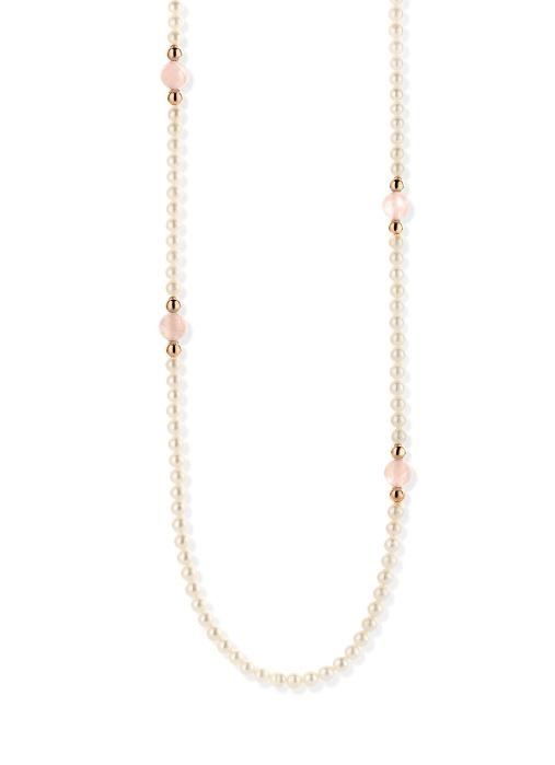 Diamond Point Roségouden collier, 36.00 ct roze kwarts, Rivièra