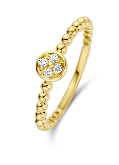 Diamond Point Geelgouden ring, 0.06 ct diamant, Ensemble