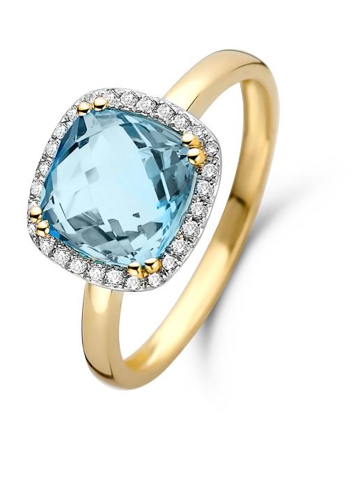 Diamond Point Fiësta ring in 14 karat yellow gold