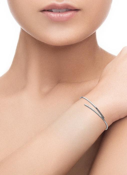 Diamond Point Witgouden armband, 0.19 ct diamant, La Dolce Vita