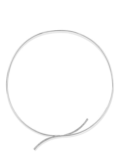 Diamond Point Halskette in 18K Weißgold