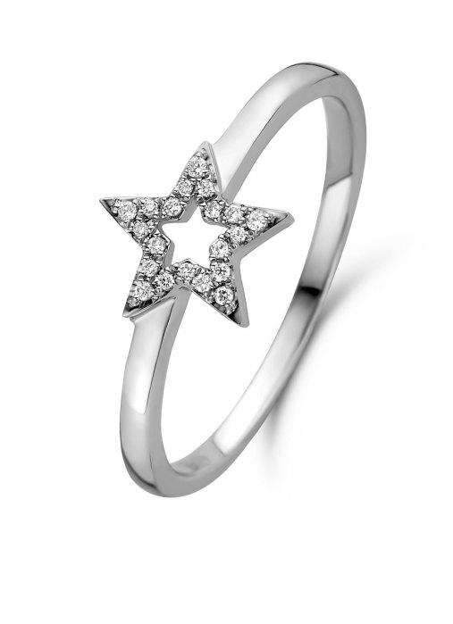 Diamond Point Witgouden ring, 0.05 ct diamant, Dreamer