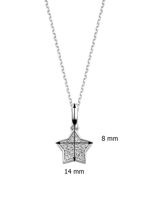 Diamond Point Witgouden hanger, 0.06 ct diamant, Dreamer