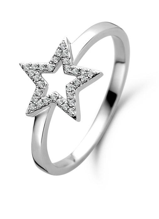Diamond Point Witgouden ring 0.07 ct diamant Dreamer