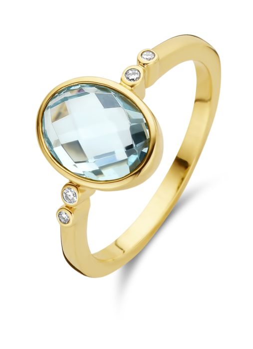 Diamond Point Geelgouden ring, 2.40 ct topaas, Philosophy