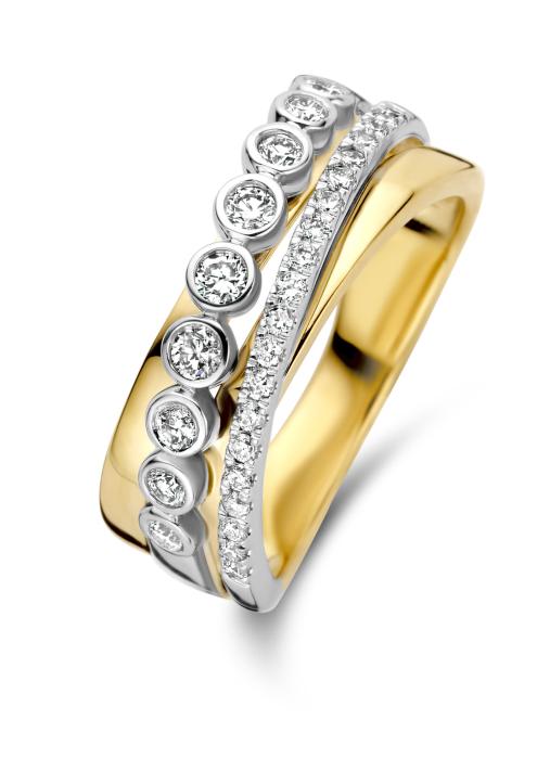 Diamond Point Gouden ring, 0.43 ct diamant, Alliance