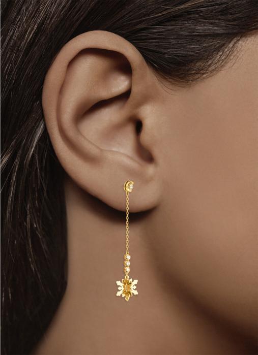 Diamond Point Geelgouden oorsieraden, 0.12 ct diamant, Symbols