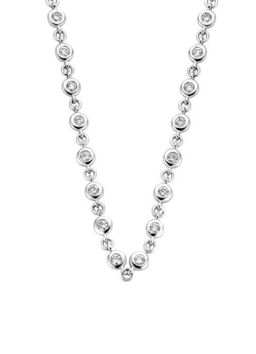 Diamond Point Witgouden collier 1.43 ct diamant Prestige