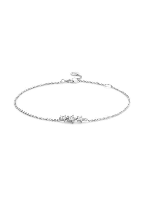 Diamond Point Witgouden armband, 0.07 ct diamant, Cosmic