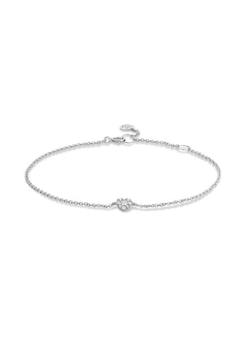 Diamond Point Symbols bracelet in 14 karat white gold