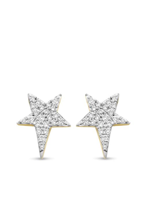 Diamond Point Geelgouden oorsieraden 0.16 ct diamant Cosmic