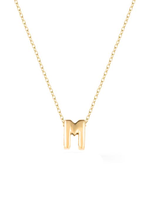 Diamond Point Geelgouden collier Alphabet