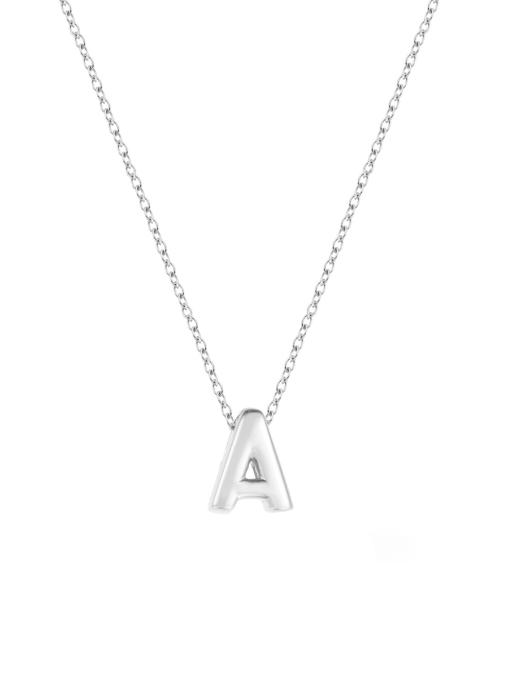 Diamond Point Witgouden collier Alphabet