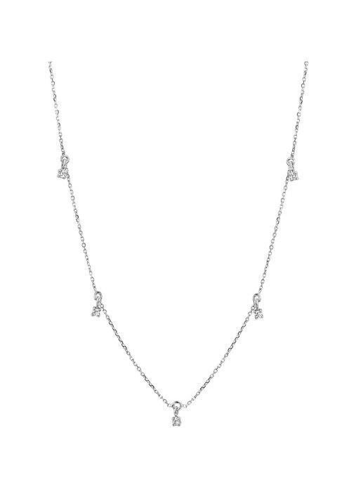 Diamond Point Witgouden collier, 0.13 ct diamant, Joy