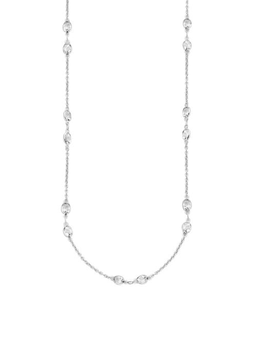 Diamond Point Jolie necklace in 18 karat white gold