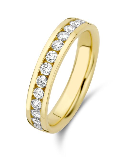 Diamond Point Geelgouden ring, 0.50 ct diamant, Wedding