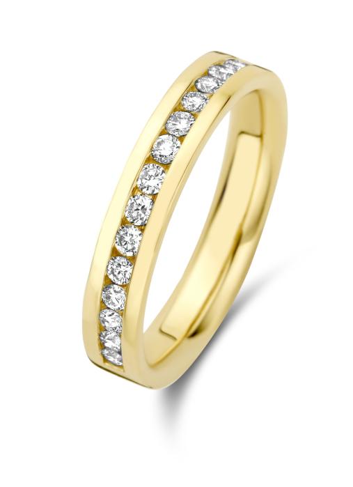 Diamond Point Wedding Ring in 14K Gelbgold