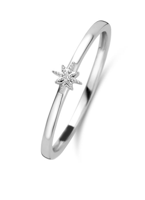 Diamond Point Cosmic ring in 14 karat white gold