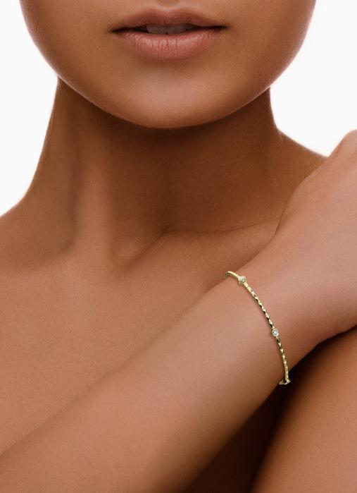 Diamond Point Geelgouden armband 0.19 ct diamant Ensemble