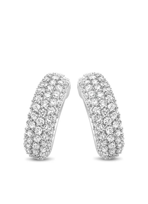 Diamond Point Caviar earrings in 14 karat white gold