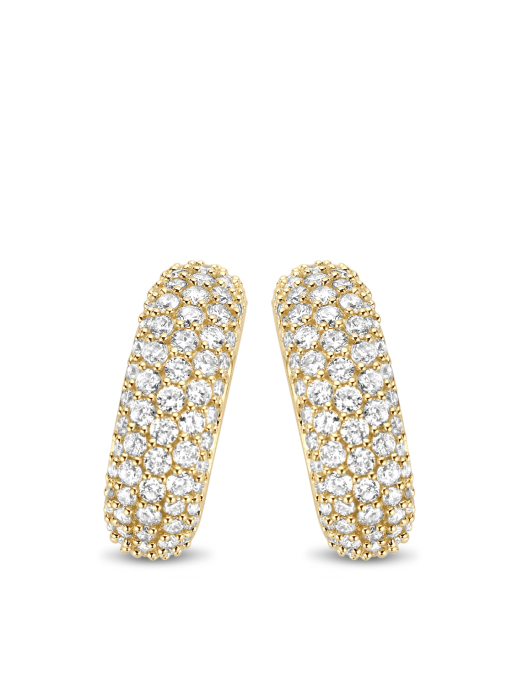 Diamond Point Caviar earrings in 14 karat yellow gold
