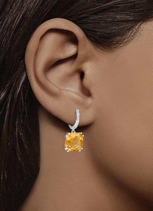 Diamond Point Witgouden oorsieraden 6.18 ct citrien Colors