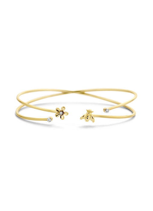 Diamond Point Queen bee bracelet in 14 karat yellow gold
