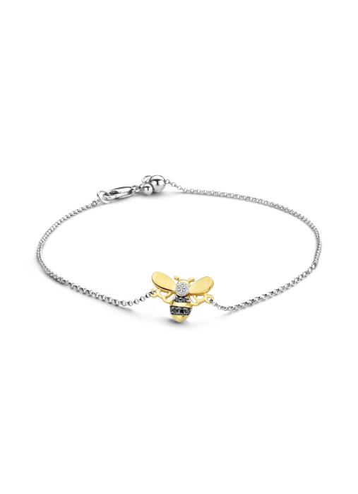 Diamond Point Gouden armband, 0.05 ct diamant, Queen Bee