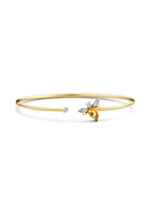 Diamond Point Geelgouden armband, 0.71 ct citrien, Queen Bee
