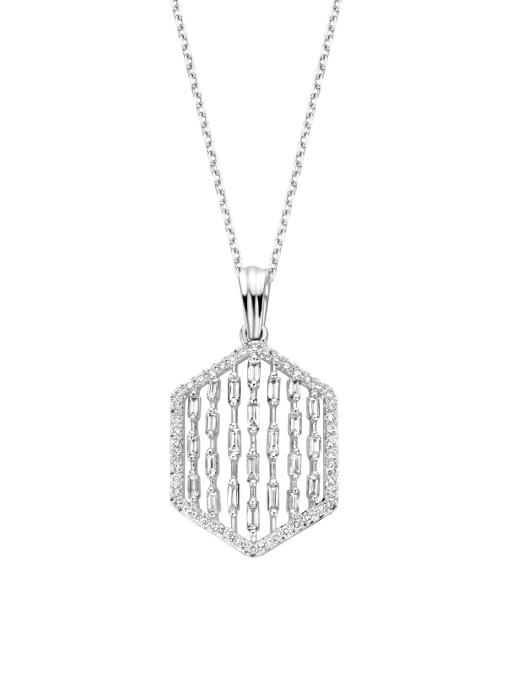 Diamond Point Witgouden hanger, 0.76 ct diamant, Gallery