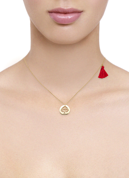 Diamond Point Marigold necklace in 14 karat yellow gold