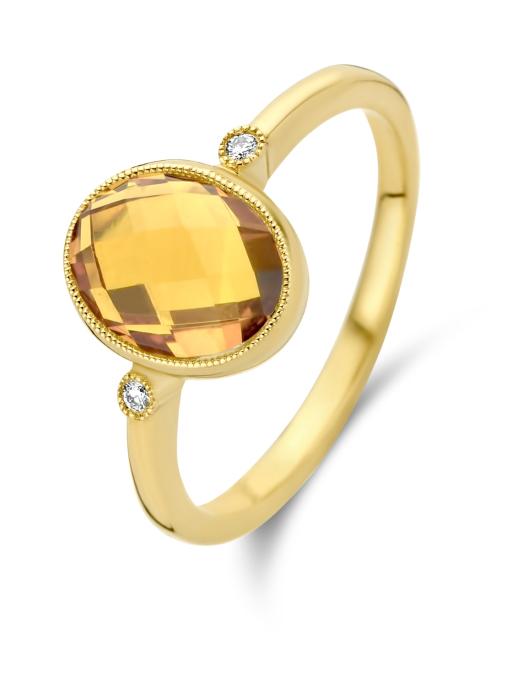 Diamond Point Geelgouden ring, 1.83 ct citrien, Philosophy