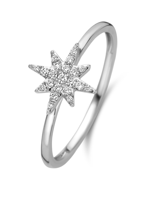 Diamond Point Cosmic ring in 14 karat white gold