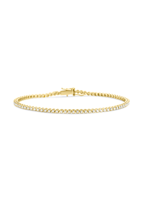 Diamond Point Tennis bracelet Armband in 14K Gelbgold