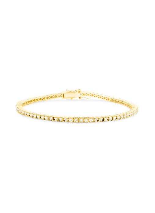 Diamond Point Tennis bracelet Armband in 14K Gelbgold