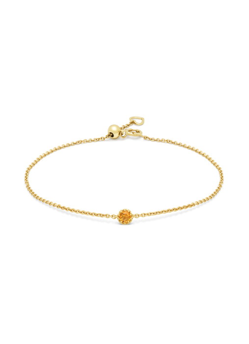 Diamond Point Geelgouden armband, 0.10 ct madeira citrien, Joy