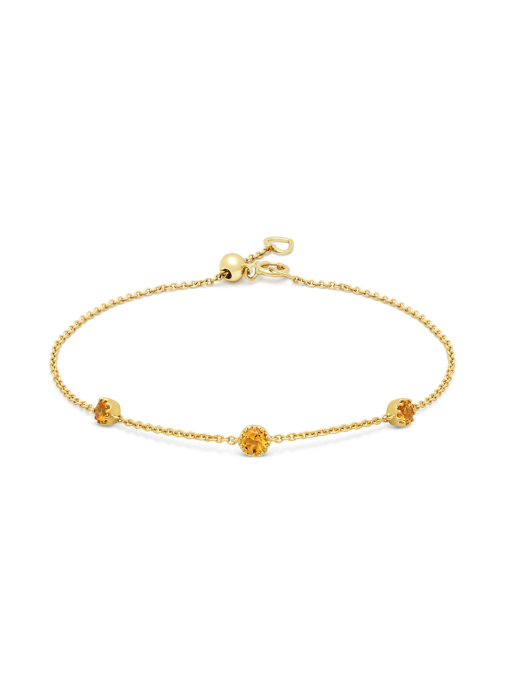 Diamond Point Geelgouden armband, 0.29 ct madeira citrien, Joy